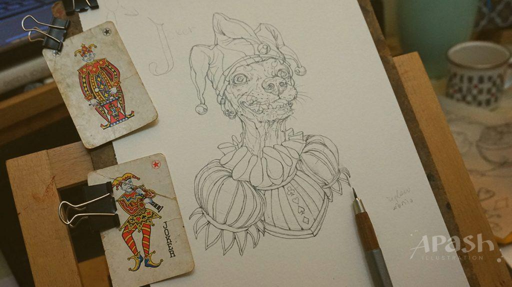Картинката не може да има празен alt атрибут; името на файла е apash-illustration-dog-cards-poker-playing-men-kupa-dog-kingdom-joker-work-in-process-pencil-drawing-1024x575.jpg